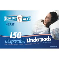 Disposable Underpads - 23x36-in -150-cs