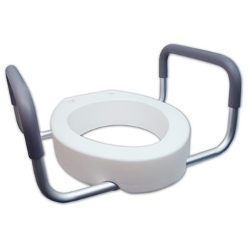 Premium Seat Rizer with Removable Arms - Elongated Toilet