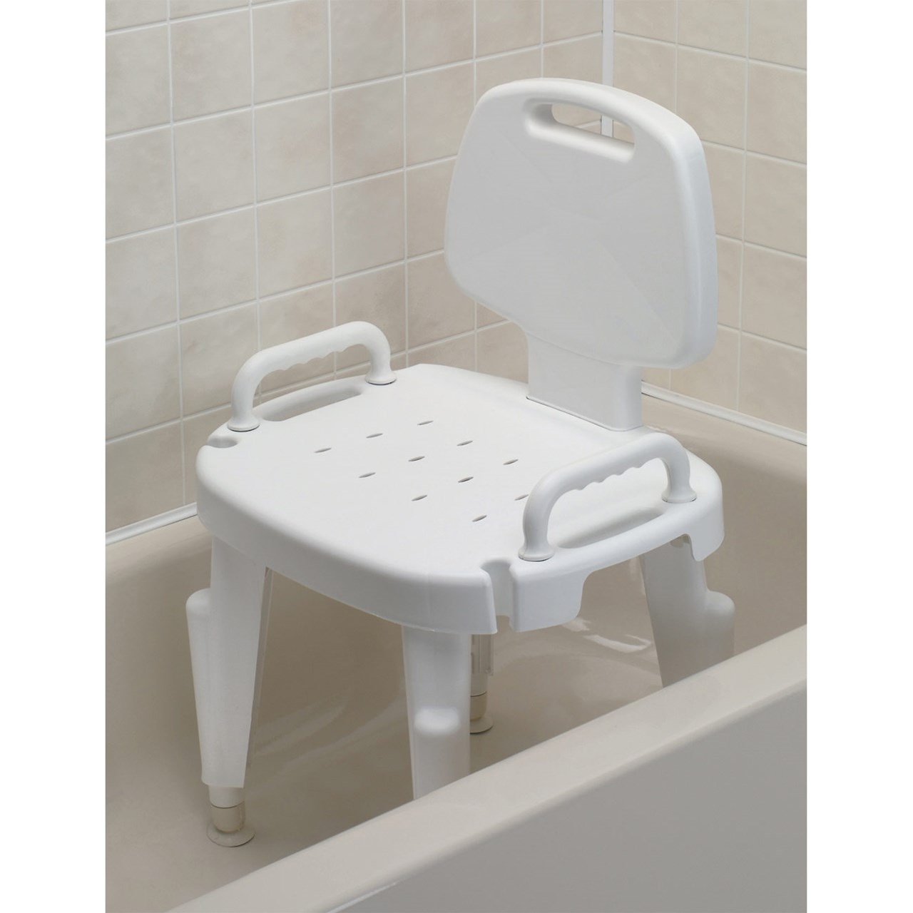 MaxiAids   Adjustable Shower Seat with Arms and Back