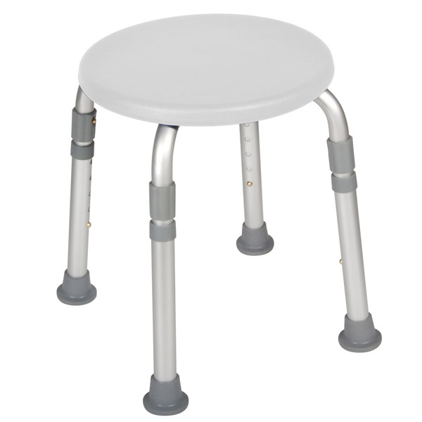 Round Shower Stool. MaxiAids   Round Shower Stool