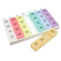 Weekly Pill Planner Braille
