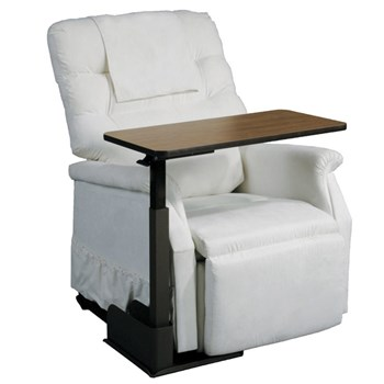 Deluxe Seat Lift Chair Overbed Right Side Table