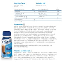 Ensure Shakes - Coffee Latte- 8 fl oz -Case of 24