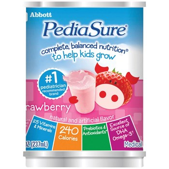 PediaSure Shake - Strawberry - 8-oz Cans - 24-cs