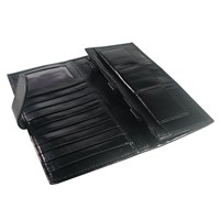 Leather Money Organizer-Wallet- Black