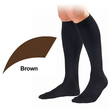 Mens Dress 8-15mmhg Knee High - X-Large - Brown