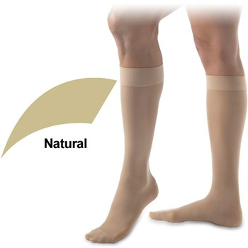 UltraSheer 15-20mmHg Knee High-Closed Toe-Full Calf-XL-Nat