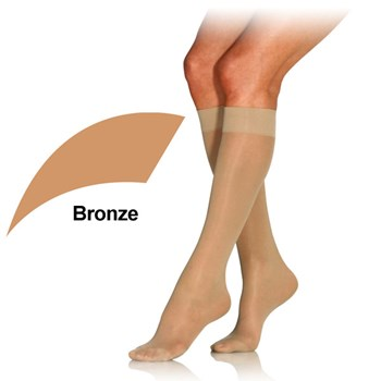 UltraSheer 8-15mmhg Knee High - X-Small - Bronze