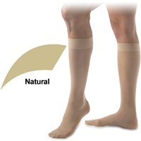 UltraSheer 15-20mmHg Knee High-Closed Toe-Med-Natural