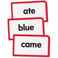 Low Vision-Braille Flash Cards- Sight Words- Set A