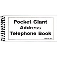 Picture of Pocket Large Print Address Book - 10 Pack