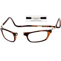 CliC Reading Glasses- Expandable - Tortoise - 3.50