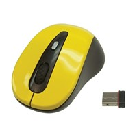 Wireless 2.4GHz USB Optical Mouse - Yellow