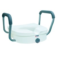 E-Z Lock Raised Toilet Seat with Padded Armrest