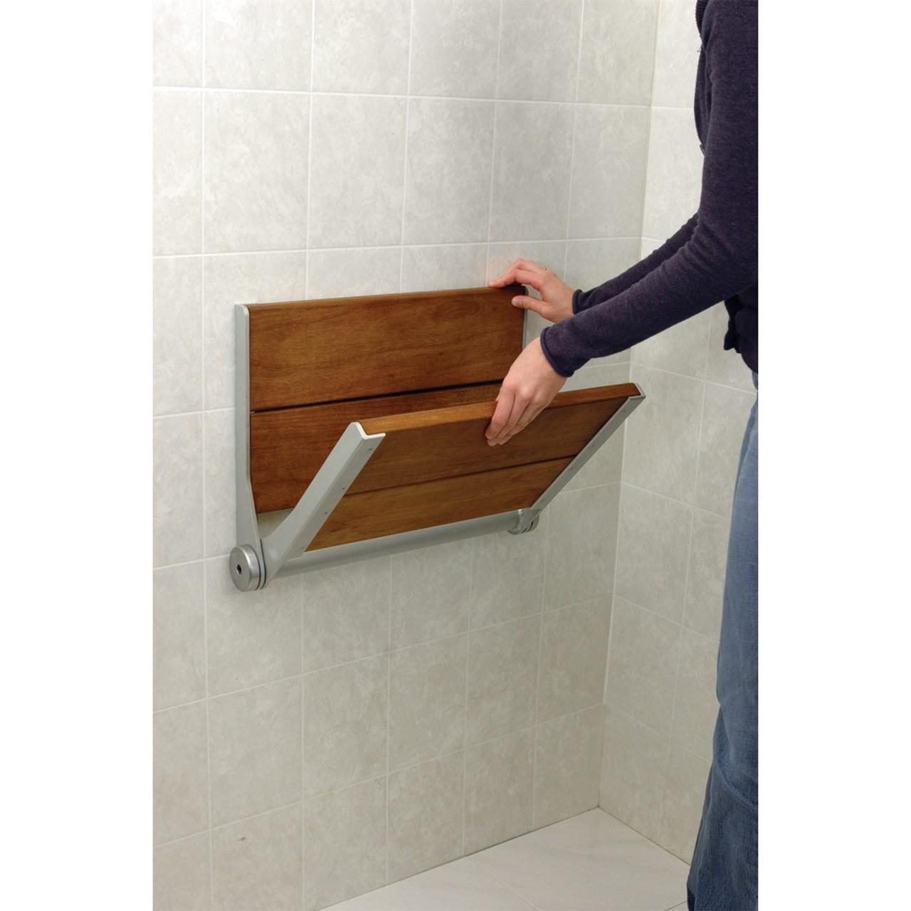Serenaseat Fold Down Shower Seat 18 In Grey