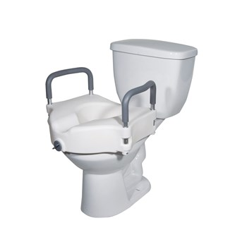 Elevated Toilet Seat with Removable Arms