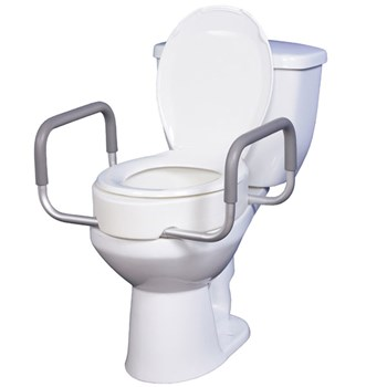 Premium Seat Rizer with Removable Arms - Standard Toilet