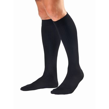 Jobst Mens Dress Black Knee High Socks- Medium