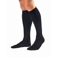 Jobst Mens Dress Black Knee High Socks-Ex. Large