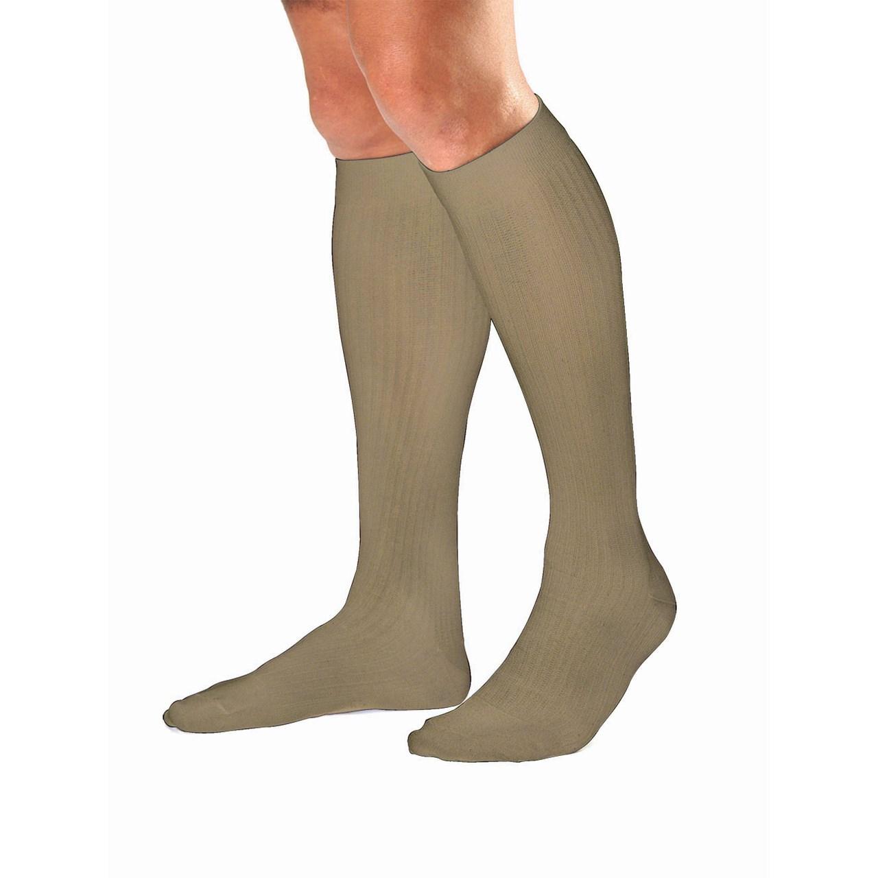 e40c522ddd MaxiAids | Jobst Mens Dress Khaki Knee High Socks- Medium