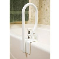 White Bathtub Rail for Fiberglass Tubs