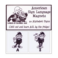 American Sign Language Magnets- Set of 40 Alphabet Signs