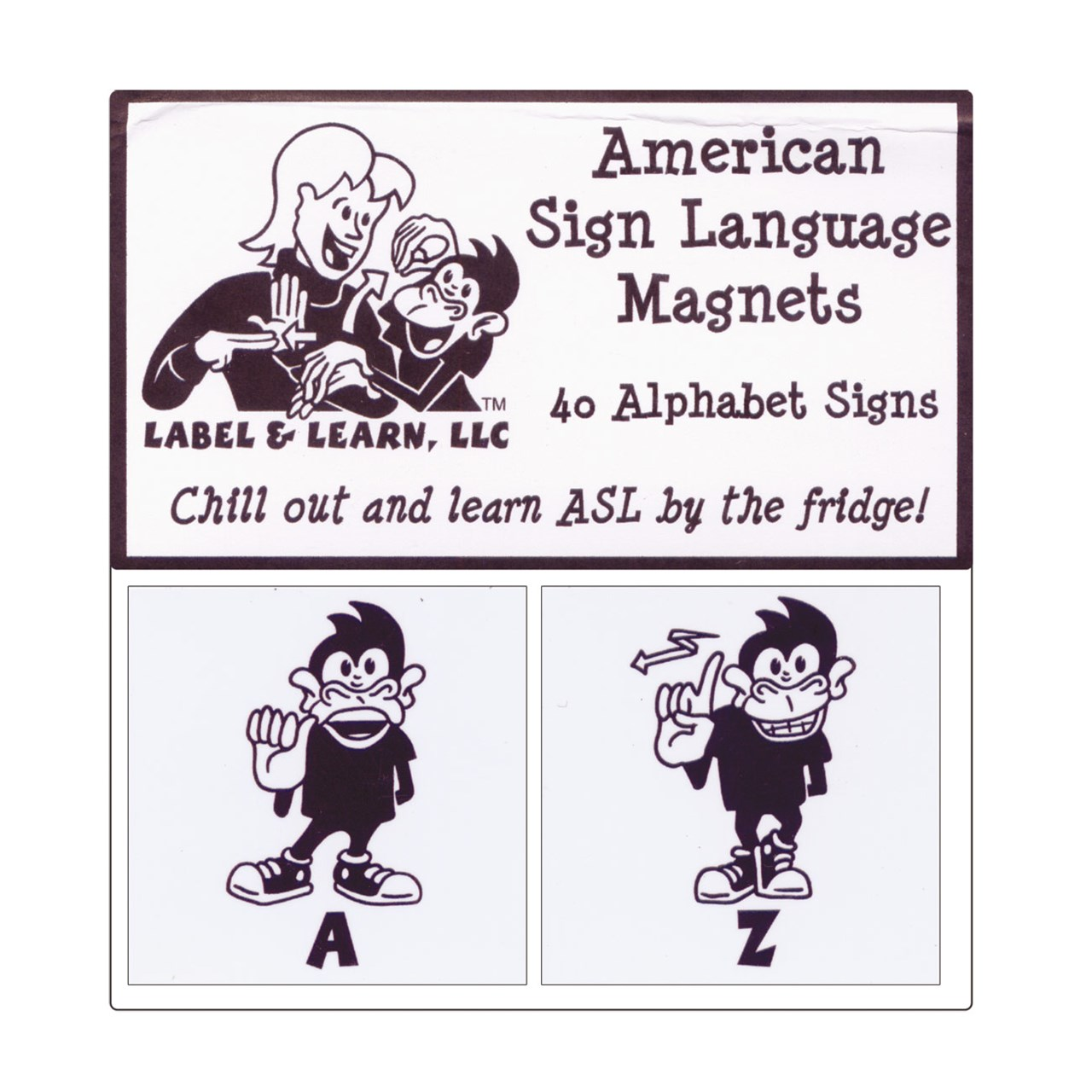 American Sign Language Magnets Set Of 40 Alpha