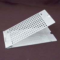 Braille Slate- 9 Line, 21 Cell, Pins Up - Aluminum