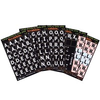 Large Print Scrabble Tile Overlays - White on Black