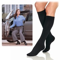 Jobst Black Pattern Women Knee High-Large