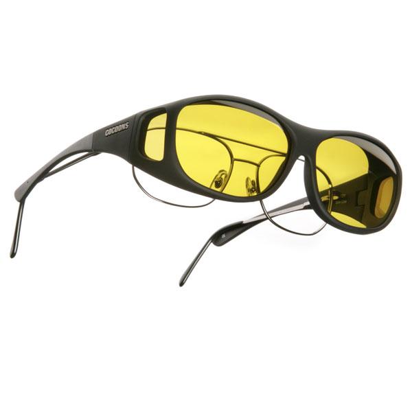 f0389ef1b852 Cocoons M Slim Line OveRx Sunwear-Black Fr-Yellow Lens. Manufacturer: Live  Eyewear