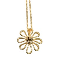 Daisy ILY Necklace - 18-in. Chain- Gold