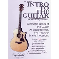 Intro to the Guitar for the Visually Impaired- 4 CDs