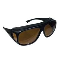 Fitovers Sunglasses - Aviator Black-Amber - Large