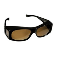 Fitovers Sunglasses - Jett - Brown Marble-Amber