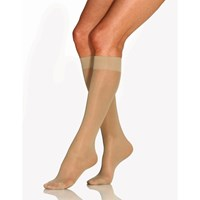 Beige Jobst Ultrasheer Knee High Stocking-Large