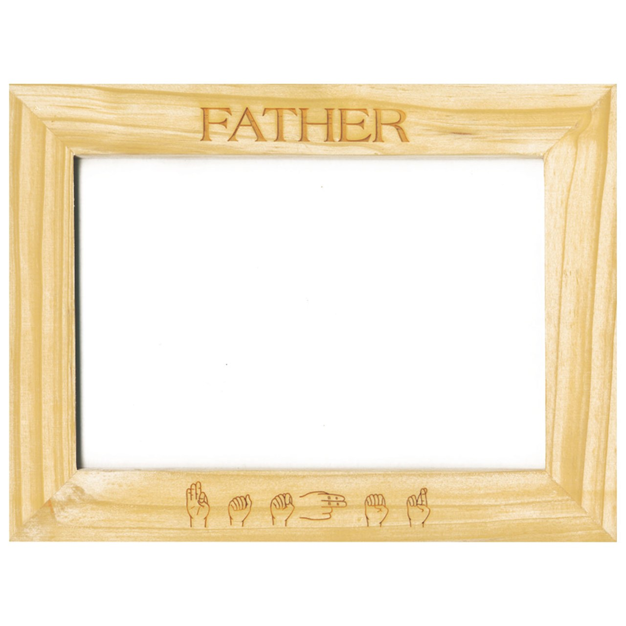 MaxiAids | Custom-Made Pinewood Picture Frames - Father
