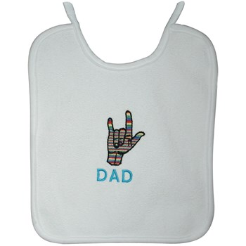 I Love You Embroidered Baby Bib - Dad