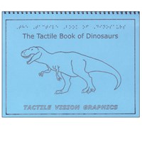 Tactile Book of Dinosaurs - Braille Childrens Book with Illustrations