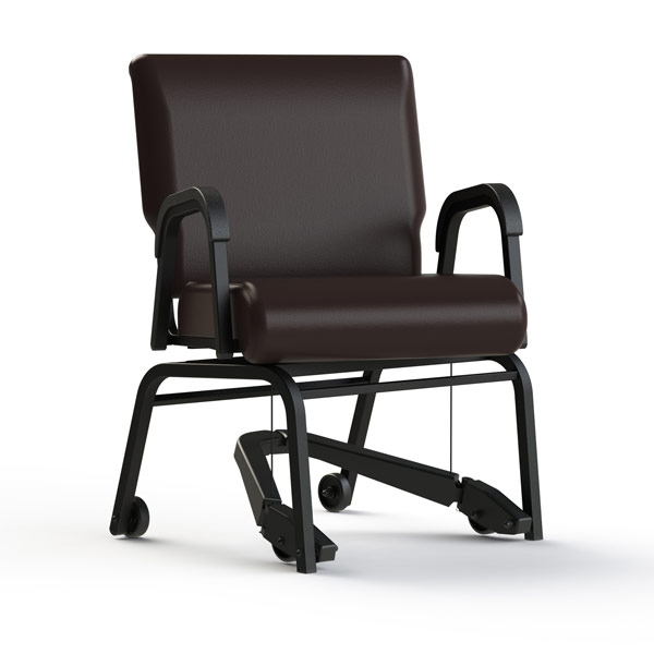 TITAN Royal EZ Assistive Moving Swivel Chair With Arms   20 In.