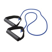 CanDo Exercise Resistance Tubing with Handles - Blue - Heavy Intensity