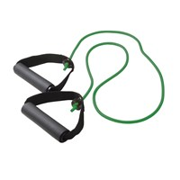 CanDo Exercise Resistance Tubing with Handles - Green - Med. Intensity