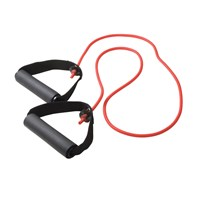 CanDo Exercise Resistance Tubing with Handles - Red - Light Intensity