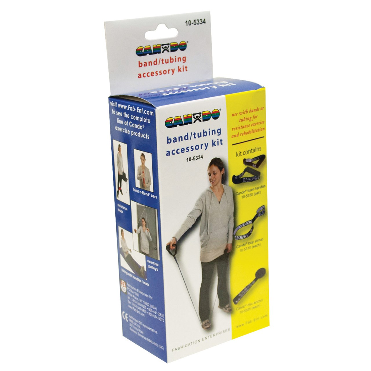 CanDo Exercise Band Accessory Kit - Loop Stirrup - Door Disc - Handles ...  sc 1 st  MaxiAids & MaxiAids   CanDo Exercise Band Accessory Kit - Loop Stirrup - Door ...
