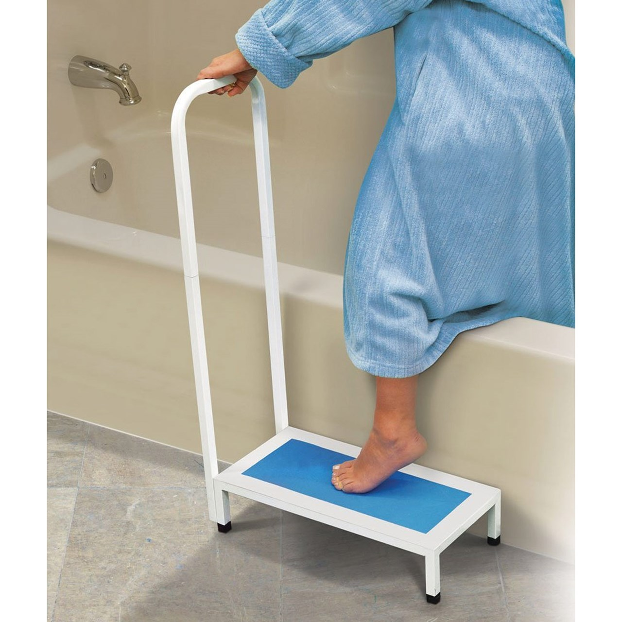 MaxiAids | Non-Slip Bath Step with Handle
