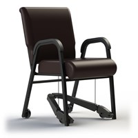 TITAN Royal EZ Assistive Chair with Arms - Metal - 20-in. Vinyl Seat