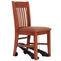 Royal EZ Series Assistive Chair - Cherry Wood with 18-in. Vinyl Seat