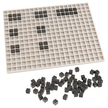 Braille Math Teaching Slate and Cubes Kit for Blind and Low Vision