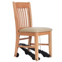 Royal EZ Series Assistive Chair - Natural Wood with 18-in. Vinyl Seat