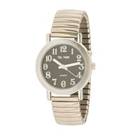 maxiaids teltime mens gold tone expansion one button